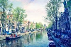 Amsterdam kanały Zdjęcie Stock