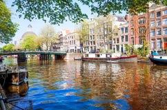 Amsterdam kanały Obraz Stock