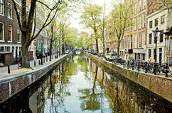 Amsterdam kanały Obrazy Stock