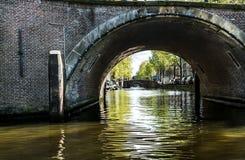 Amsterdam kanały Zdjęcia Royalty Free
