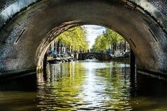 Amsterdam kanały Zdjęcia Stock