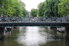 Amsterdam kanały Zdjęcie Royalty Free