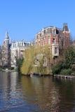 Amsterdam kanal Royaltyfria Bilder