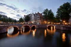 Amsterdam kanal royaltyfri foto