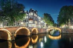 amsterdam kanal Arkivbild