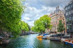 amsterdam kanal Royaltyfri Bild