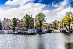 Amsterdam-Kanalbereich Stockfotografie