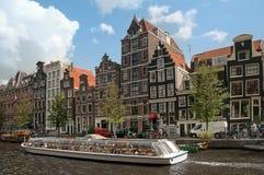 amsterdam kanaler Royaltyfri Fotografi