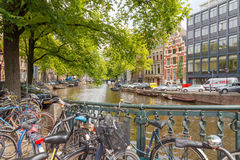 amsterdam kanaler Royaltyfri Foto