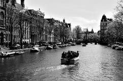 Amsterdam kanaler Fotografering för Bildbyråer