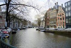 Amsterdam kanaler Holland Royaltyfria Bilder