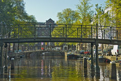 Amsterdam kanaler, Nederländerna Royaltyfri Foto