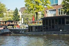Amsterdam kanaler, Nederländerna Royaltyfri Bild