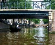 amsterdam kanalflod Arkivbilder