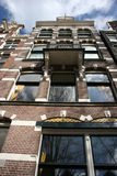 Amsterdam-Kanalhaus stockfotografie