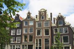 amsterdam kanalhus Royaltyfri Foto