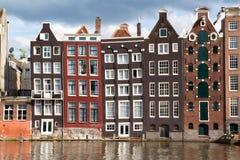 amsterdam kanalhus Royaltyfri Bild