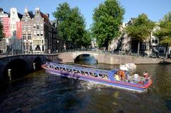 Amsterdam kanaliserar Arkivbild