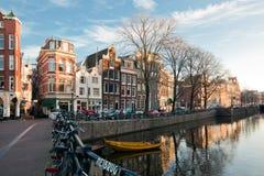 amsterdam kanalsikt Royaltyfria Foton