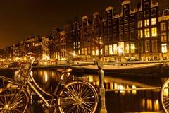 Amsterdam, Kapitol von Fahrrädern Lizenzfreie Stockbilder