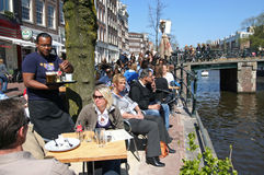 amsterdam kawiarnia Fotografia Royalty Free