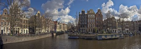 Amsterdam Keizersgracht-Brouwersgracht in Holland Stock Photography