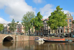 Amsterdam. Korytkowy Keizersgracht Obraz Stock