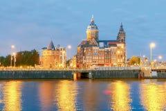 Amsterdam La iglesia de San Nicolás imágenes de archivo libres de regalías