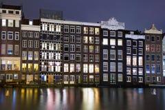 Amsterdam la nuit Image stock