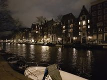 Amsterdam la nuit Photos stock