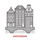 Amsterdam Landmark Icon Stock Images