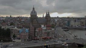 Amsterdam le soir - vue aérienne clips vidéos