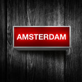 Amsterdam light display Royalty Free Stock Photo