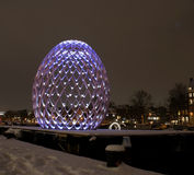 Amsterdam Light Festival. Amsterdam, 7 December 2012 till 20 January 2013: First Amsterdam light festival, a cultural festival of light and water that puts the Royalty Free Stock Photo