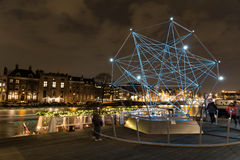 Amsterdam light festival 2015 Royalty Free Stock Images
