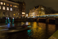 Amsterdam Light Festival - Freedom as a valuable friend Stock Photos