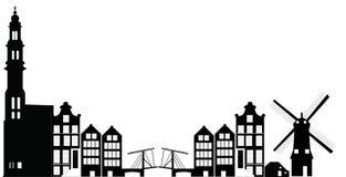 Amsterdam linia horyzontu ilustracja wektor