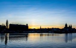 Amsterdam linii horyzontu krajobraz Obrazy Royalty Free