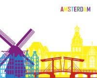Amsterdam linii horyzontu wystrzał Obrazy Royalty Free