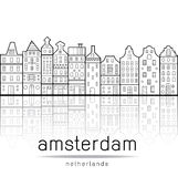 Amsterdam loge le style Pays-Bas illustration stock