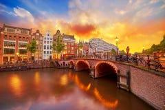 Amsterdam, los Países Bajos Imagenes de archivo