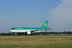 Amsterdam, los Países Bajos - agosto, décimo octavo 2016: EI-DEN Aer Lingus Fotografía de archivo libre de regalías