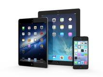 AMSTERDAM, LOS PAÍSES BAJOS - CIRCA 2014 - iPad e iPhone Foto de archivo libre de regalías