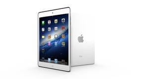 AMSTERDAM, LOS PAÍSES BAJOS, CIRCA 2014 - tableta del iPad de Apple mini en la exhibición Imagen de archivo