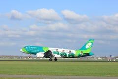 Amsterdam los Países Bajos - 7 de abril de 2017: EI-DEI Aer Lingus Fotografía de archivo