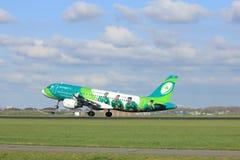 Amsterdam los Países Bajos - 7 de abril de 2017: EI-DEI Aer Lingus Fotos de archivo