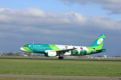Amsterdam los Países Bajos - 7 de abril de 2017: EI-DEI Aer Lingus Foto de archivo