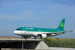 Amsterdam, los Países Bajos - 9 de junio de 2016: EI-CVC Aer Lingus Ai Imágenes de archivo libres de regalías
