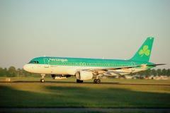 Amsterdam, los Países Bajos - 2 de junio de 2017: EI-DEC Aer Lingus Imagen de archivo libre de regalías