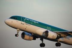 Amsterdam, los Países Bajos - 1 de junio de 2017: EI-DEE Aer Lingus Airbus Imagenes de archivo